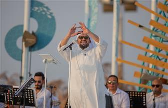 """حسين الجسمي يعيد """"بالبنط العريض"""" عدة مرات لجمهوره خلال احتفاله باليوم الوطني السعودي   صور"""