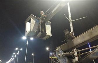 محافظ الشرقية يوجه بإجراء أعمال الصيانة لأعمدة الإنارة بالشوارع والطرق الرئيسية | صور
