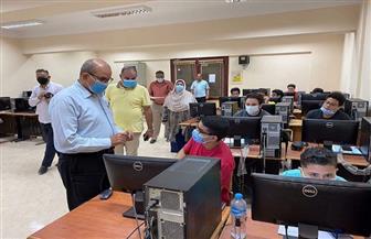 وكيل تعليم بورسعيد يتفقد الامتحانات الإلكترونية التكميلية لطلاب مدارس المتفوقين | صور