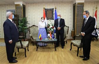 محافظ السويس يستقبل سفيرة كولومبيا بالقاهرة | صور