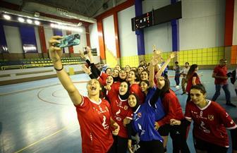 سيدات الأهلي بطلات كأس مصر لكرة الطائرة