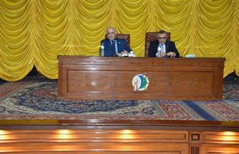 رئيس جامعة الفيوم يترأس اجتماع مديري المراكز ذات الطابع الخاص| صور