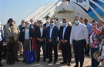 بحضور وزراء الطيران والسياحة والبيئة والإعلام.. 30 سفيرا لدى مصر في جولة تفقدية بمطار شرم الشيخ الدولي|صور
