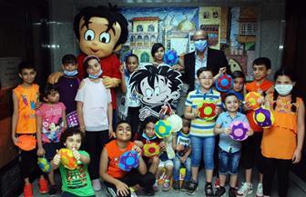 مجلة علاء الدين تكتشف المواهب الصغيرة في الورشة الفنية للمدرب الصغير| صور