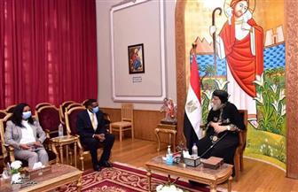 البابا تواضروس: أصلي وأثق أن المفاوضات بين مصر وإثيوبيا والسودان سوف تمضي  نحو حل ملائم للجميع |صور