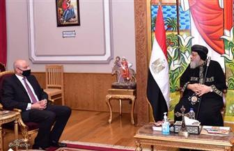 البابا تواضروس يستقبل قنصل مصر بملبورن والسفير الكوري بمصر |صور