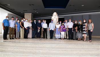 وزير السياحة والآثار و30 سفيرا يزورون متحف شرم الشيخ
