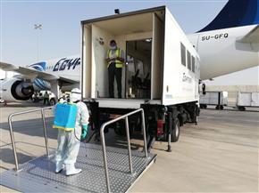 مطار القاهرة ينفذ تجربة طوارئ تطبيقا لإجراءات السلامة لمكافحة «كورونا» | صور