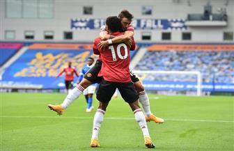 مانشستر يونايتد يحقق فوزه الأول في البريميرليج بعد مباراة مثيرة مع برايتون