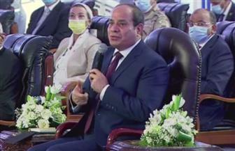 الرئيس السيسي: وعي المواطنين هو السلاح الأقوي لمواجهة الأفكار الهدامة وحملات التشكيك