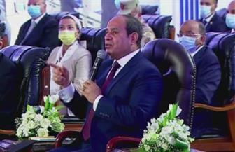 الرئيس السيسي: ضخ مليار جنيه سنويا لمدة 5 سنوات لتطوير المجمع بمسطرد