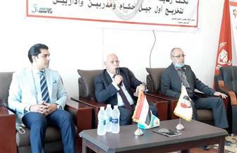 محافظ بورسعيد يشهد الدورة التدريبية الدولية للمينى فوتبول للمدربين والإدرايين والحكام | صور