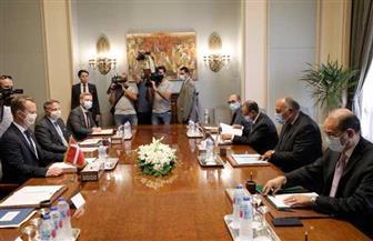 بدء جلسة مباحثات رسمية بين وزيري خارجية مصر والدنمارك