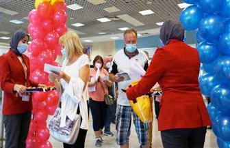 َوصول رحلة شركة إنتر إير البولندية من  وارسو إلى مطار الغردقة الدولي