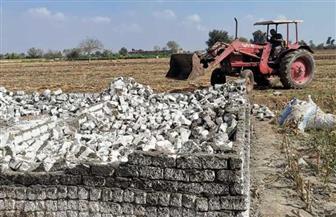 إزالة 10 حالات تعد بالبناء المخالف على الأراضي الزراعية بالشرقية
