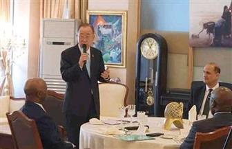 سفير مصر في كوريا الجنوبية يقيم مأدبة غداء على شرف «بان كي مون» | صور