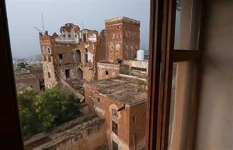 الأمطار الغزيرة تتسبب بانهيار مبنى البوابة في المتحف الوطني في تعز