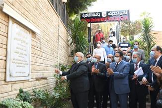رئيس جامعة القاهرة يفتتح تجديدات نادي التجديف| صور