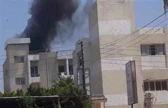السيطرة على حريق أعلى مبنى إداري بمستشفى دسوق العام |صور