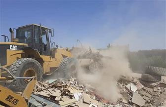 إزالة التعديات عن 15 ألف متر من أراضي الدولة غرب الإسكندرية