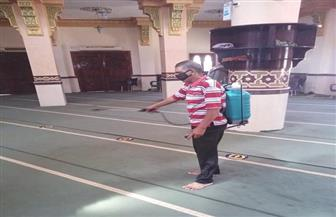 الأوقاف تواصل استعداداتها لصلاة الجمعة بتعقيم المساجد ووضع علامات التباعد |صور