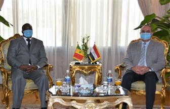 وزير الطيران المدني يلتقي سفير دولة السنغال | صور