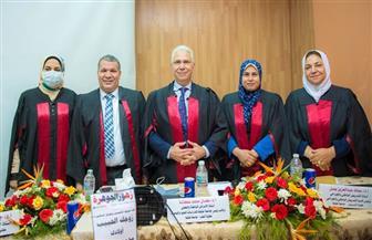 نائب رئيس جامعة طنطا يترأس لجنة مناقشة ماجستير حول التمريض الباطني والجراحي | صور