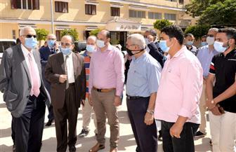 رئيس جامعة المنصورة يتفقد استعدادات المدن الجامعية للعام الدراسي الجديد | صور