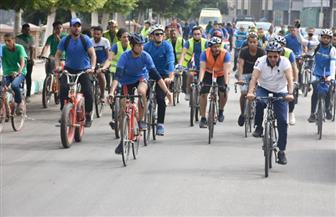 """300 متسابق يرفعون شعار """"لياقتك مناعتك.. دراجتك صحتك"""" بماراثون دراجات في كفر الشيخ"""