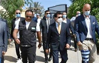وزير الرياضة ومنتصر النبراوي يحضران البروفة الأخيرة لقرعة كأس العالم لكرة اليد