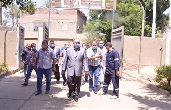 محافظ أسيوط يتفقد محطة معالجة الحديد والمنجنيز بقرية بني مر بمركز الفتح | صور