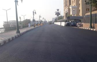 محافظ أسيوط يتفقد أعمال رصف وتطوير شارع الثورة وكورنيش النيل بحي شرق | صور