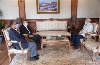 محافظ بورسعيد يستقبل رئيس هيئة قناة السويس لتعزيز سبل التعاون | صور