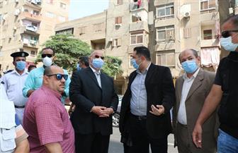 محافظ القاهرة يشهد إزالة مخالفة بناء في الأميرية   صور