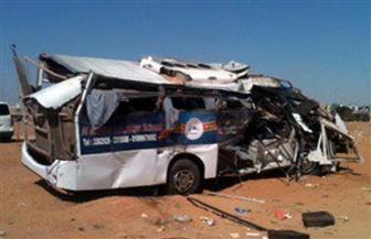 إصابة 13 عاملا في انقلاب «ميني باص» في الشرقية