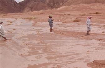 سيول بالكيلو 85 بسفاجا وأمطار بطرق مرسى علم  صور