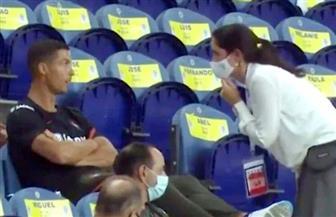 إجبار كريستيانو رونالدو على ارتداء الكمامة فى مباراة منتخبه أمام كرواتيا
