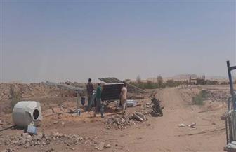 إزالة تعديات على 14 فدانا من أملاك الدولة بقرية الحبيل شمال الأقصر| صور