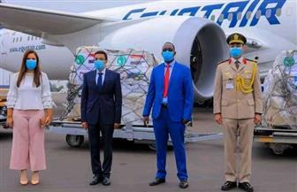 رواندا تستقبل طن ونصف مساعدات مكونة من مواد طبية ووقائية من مصر لمواجهة «كورونا»   صور