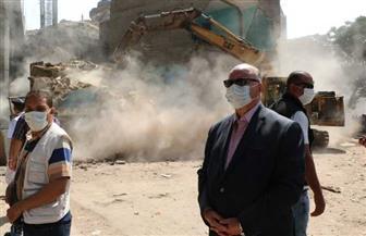 محافظ القاهرة يتفقد إزالات إسطبل عنتر العشوائية.. ويؤكد إزالة 262 عقارا | صور