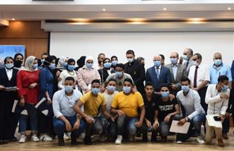 محافظ بورسعيد يكرم طالبات «زويل» لتفوقهن دراسيا والتزامهن تدريبيا | صور