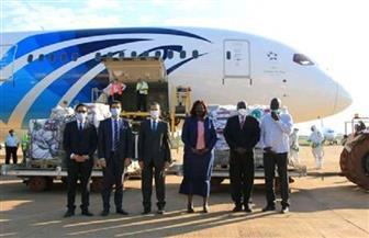 جنوب السودان تتسلم شحنة مساعدات طبية من مصر لمواجهة جائحة كورونا صور