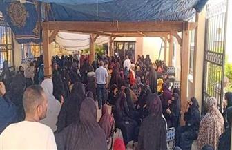 إقبال-مكثف-للسيدات-أمام-اللجان-الانتخابية-بمدرسة-رشيد-القومية-بمصر-الجديدة|-فيديو