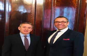 السفير المصري في لندن يبحث العلاقات الثنائية والموضوعات الإقليمية مع وزير الدولة البريطاني للشرق الأوسط
