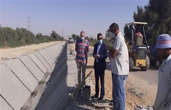 نائب محافظ الفيوم يتفقد أعمال تبطين ترعة بمركز يوسف الصديق | صور
