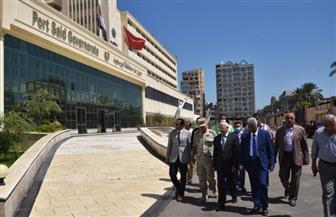 محافظ بورسعيد ورئيس الجامعة يتفقدان الديوان العام بعد تحوله رقميا | صور