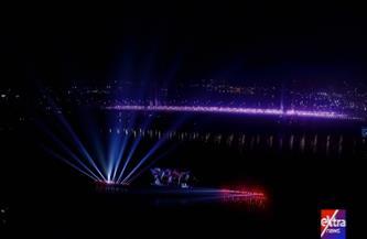 سماء القاهرة تتزين بصورة الرئيس السيسي ورموز مصرية خلال احتفالية العام الجديد  صور