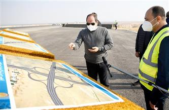 الرئيس السيسي يتفقد الطريق الدائري الأوسطي ومحاور محمد العصار وروض الفرج والضبعة |صور