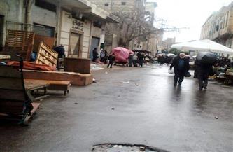 إخلاء سوقي الجمعة والحمام في الإسكندرية
