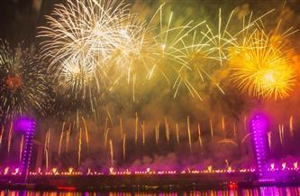 2021.. الألعاب النارية تضيء سماء القاهرة في أضخم احتفالية شهدتها مصر | صور